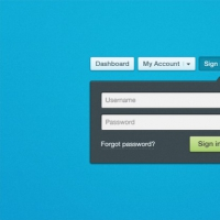 Blue Login Form PSD Material