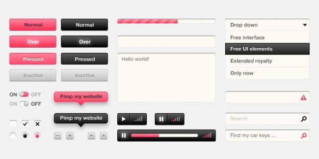 UI Design Kit PSD