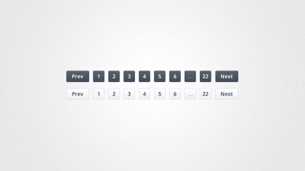 Slick Pagination Links PSD & CSS