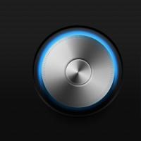 Glowing Volume Knob & Switch (PSD)