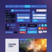 Flat UI Kit For Website