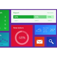 Colorful Metro UI kit PSD
