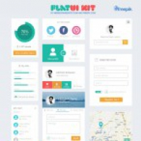 Flat UI kit - PSD