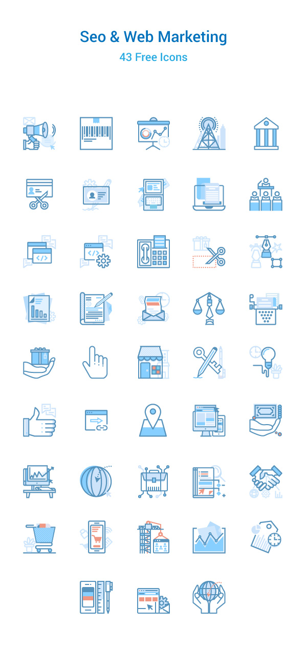 43 Seo & Web Marketing Icons