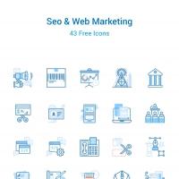 43 Seo & Web Marketing Icons