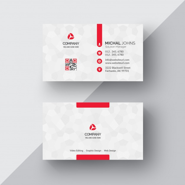 White Business Card