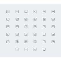 34 Thin Icons