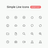 Simple Line Icons Webfont
