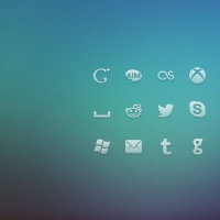 Social Network PSD Icons
