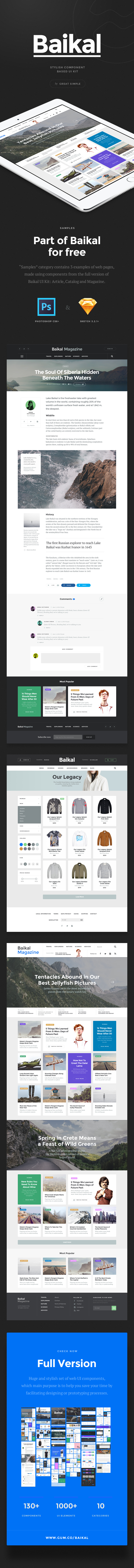 Baikal UI Kit: Samples