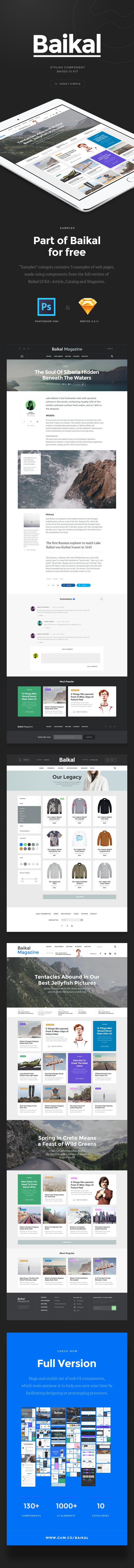Baikal UI Kit: Samples