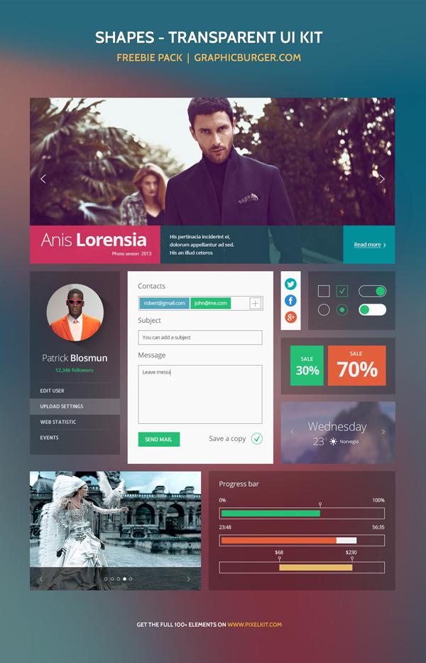 Shapes Transparent UI Kit