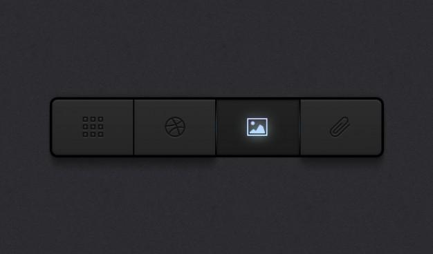 Buttons Dark Buttons