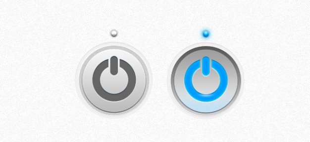 Power Button Psd