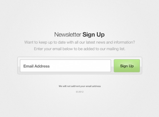 Button Form Newsletter UI