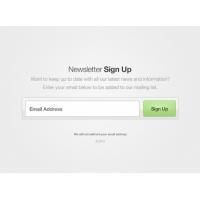 Button Form Newsletter UI