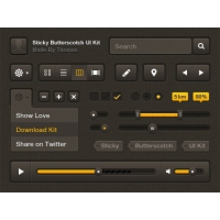 Sticky Butterscotch kit Free Psd