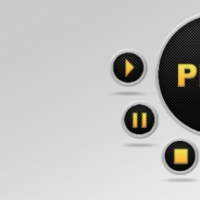 PSD Media Buttons Set