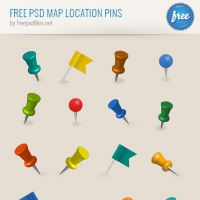 Free PSD Map Location Pins