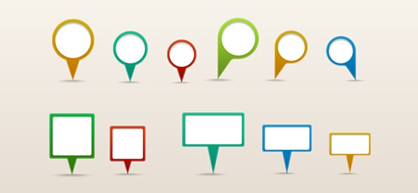 Free PSD Map Pins