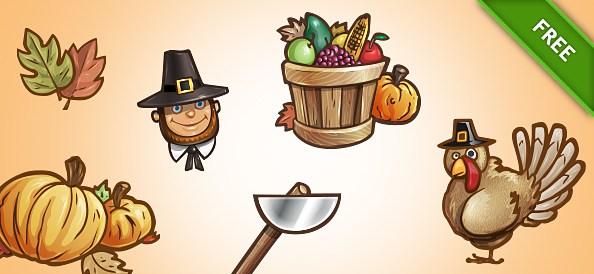 Free PSD Thanksgiving Set 2