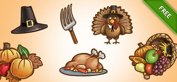Free PSD Thanksgiving Set 1