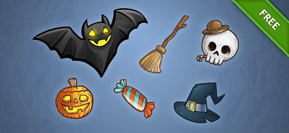 Free PSD Halloween Set 1