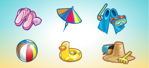 Free PSD Summer Icon Set 2