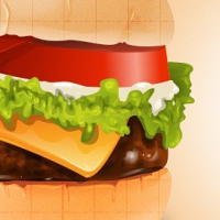 Free Burger PSD Graphics