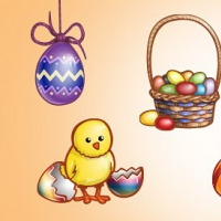 Easter Graphics PSD Set 2