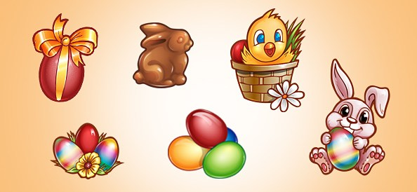 Easter Graphics PSD Set 1