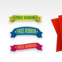 5 Free PSD Ribbon Templates