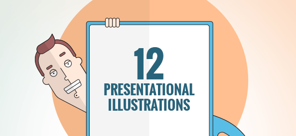 Free Vector Presentation Illustrations Set