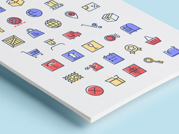 Freebie: Checkout & Delivery Icons (AI, EPS, SVG, Sketch, PSD, PNG)