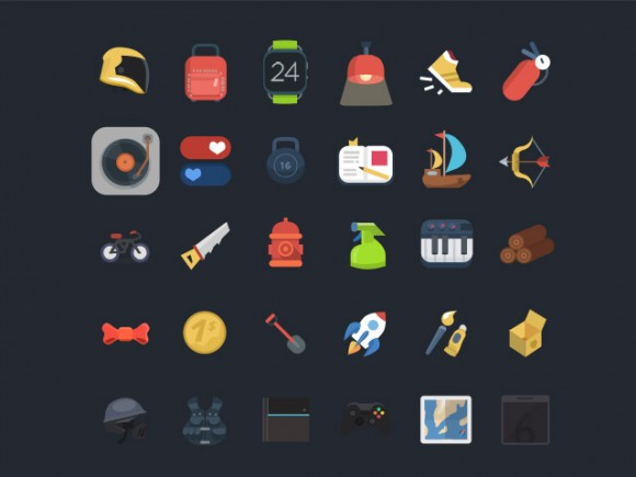 120+ Free PSD Colourful Icons