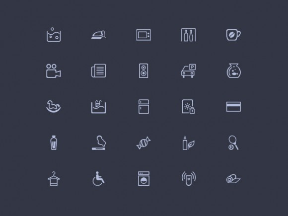 Amenities – 50 Misc PSD Icons