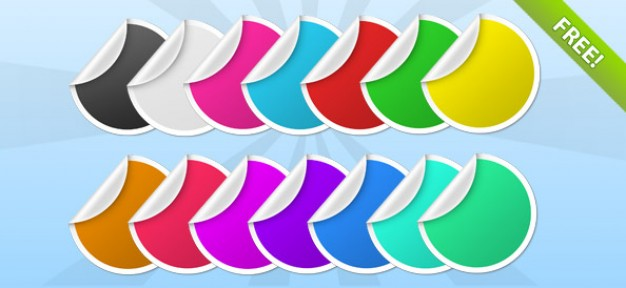 16 Free PSD Stickers