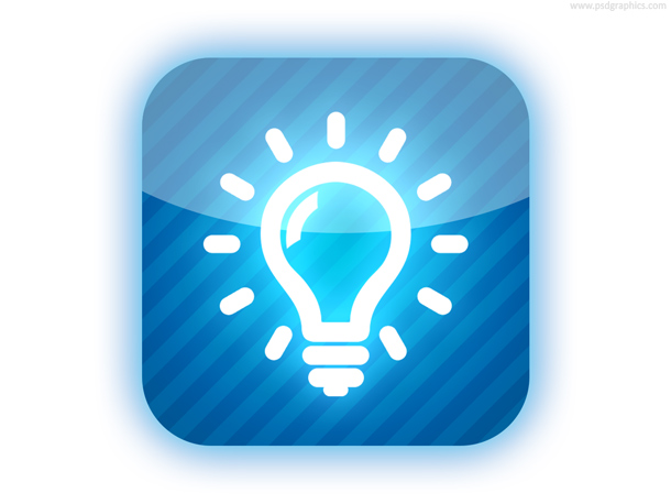 Light Bulb Button (PSD)