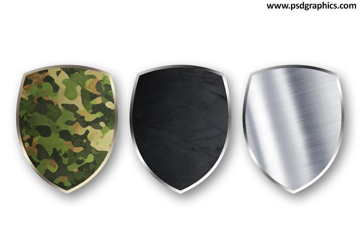 Blank Shields PSD Templates