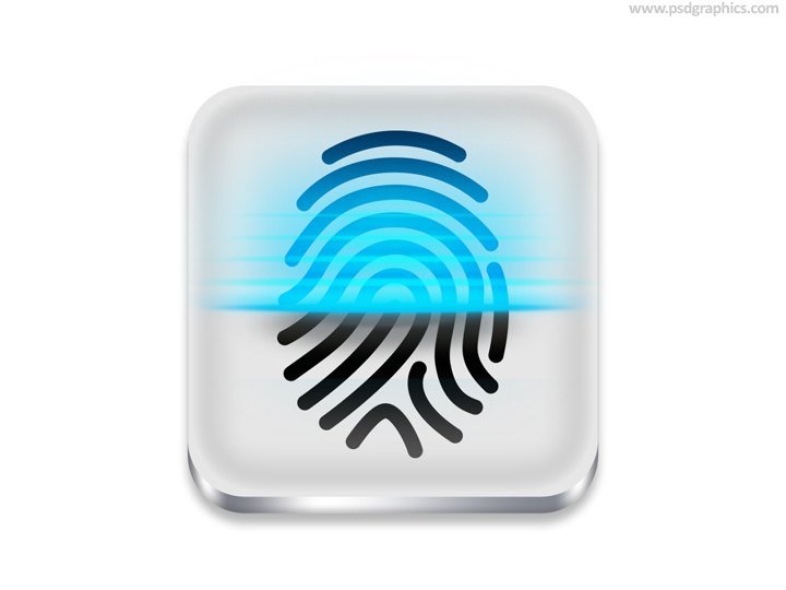 Fingerprint Scanner Icon (PSD)