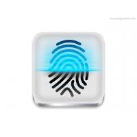 Fingerprint Scanner Icon (PSD)