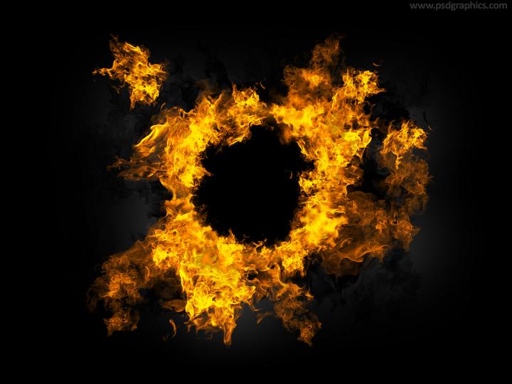 Fire Frame template (PSD)