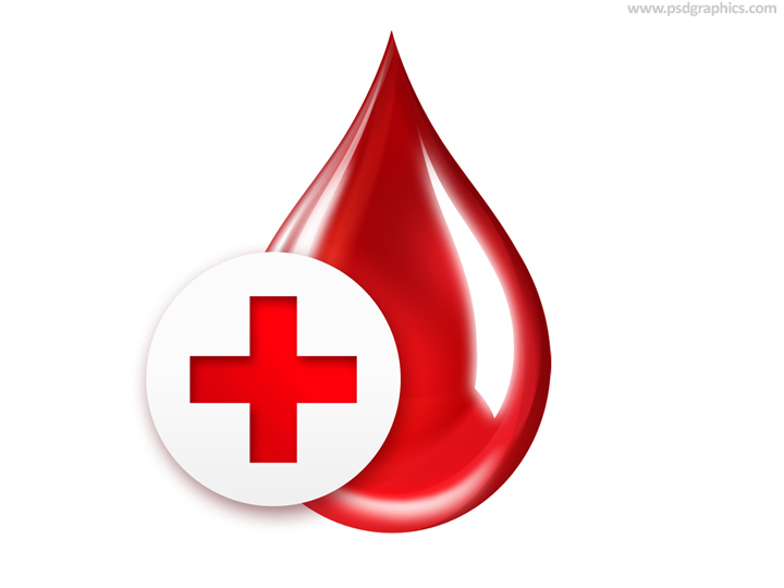 Blood Drop With Red Cross
