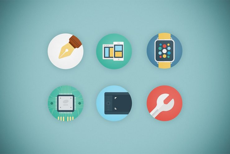 Web Agency Flat Icon Set