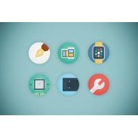 Web Agency Flat Icon Set