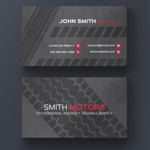 Tire Print Business Card