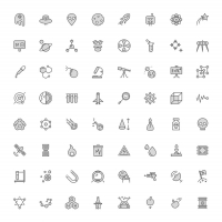 Free Science Icons: 104 Icons In 3 Styles
