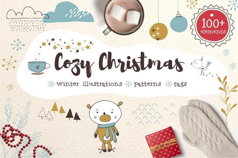 COZY CHRISTMAS HAND DRAWN TAGS