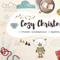 COZY CHRISTMAS HAND DRAWN TAGS