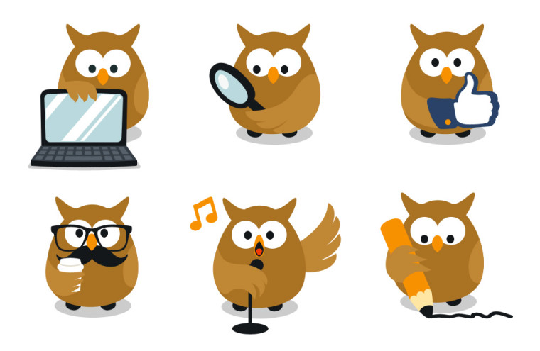 OWL VECTOR WEBSITE MASCOTS